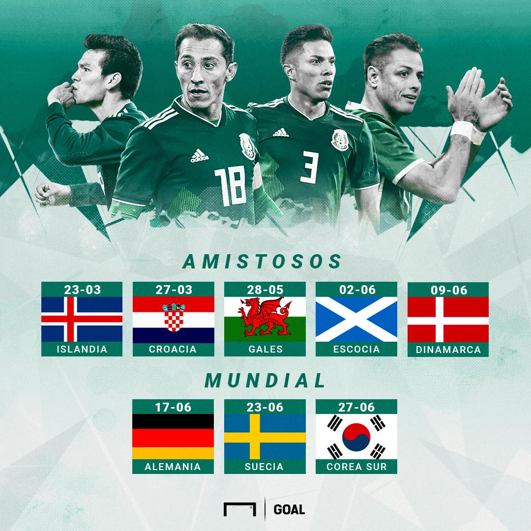 Calendario selección mexicana 2018