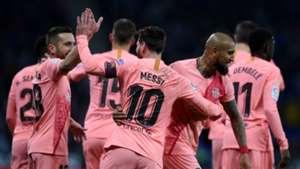 081218 Lionel Messi Arturo Vidal Barcelona Espanyol Jordi Alba