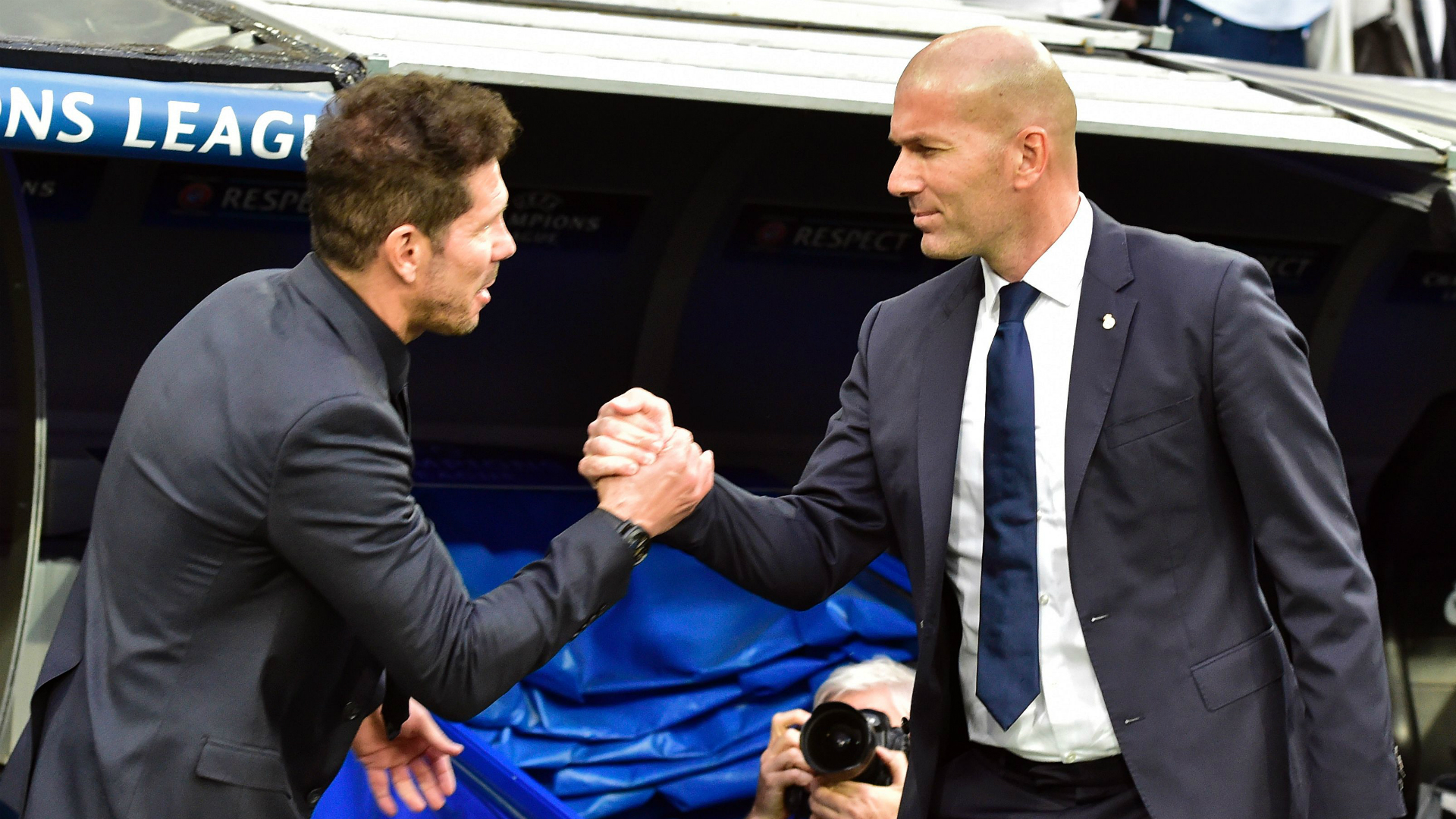 Zinedine Zidane Diego Simeone Real Madrid Atletico Madrid Champions League