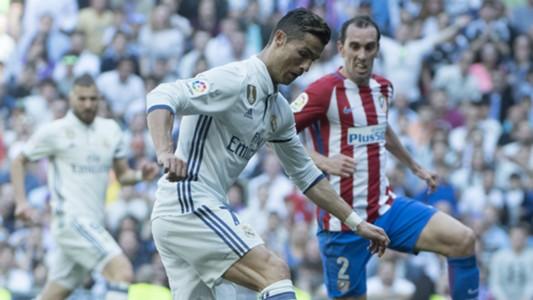 Cristiano Ronaldo Diego Godin Real Madrid Atletico Madrid La Liga