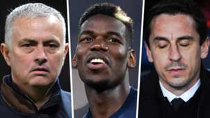 Jose Mourinho Paul Pogba Gary Neville