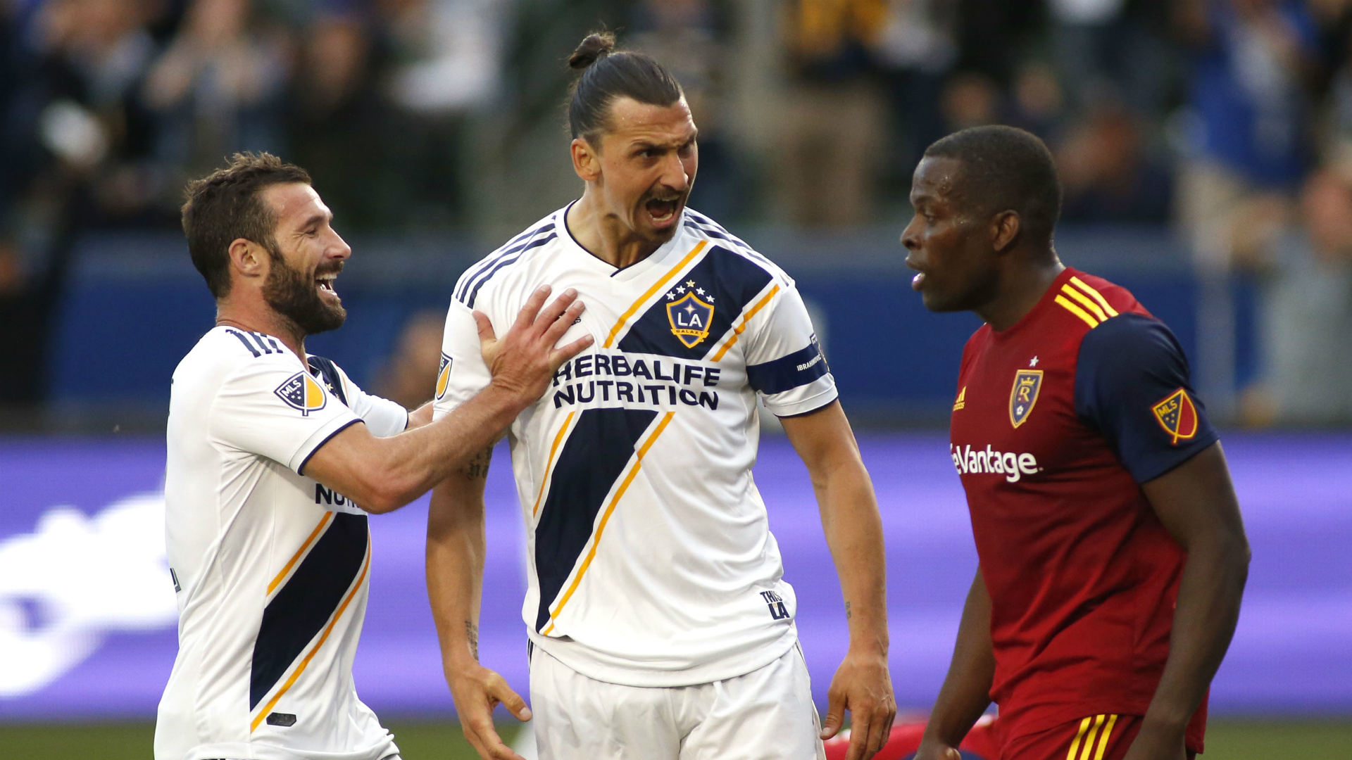 Zlatan Ibrahimovic and Nedum Onuoha didn't exit the pitch in a happy mood