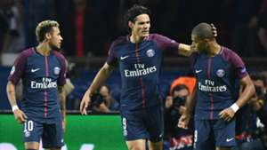 Neymar Edinson Cavani Kylian Mbappe PSG Paris Saint-Germain