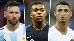 Messi Mbappe Ronaldo