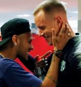 FC바르셀로나 골키퍼 테어 슈테겐(우)과 PSG 공격수 네이마르(좌). 사진=네이마르 인스타그램