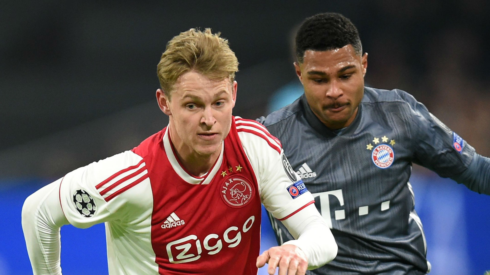 De Jong Bayern Ajax Champions League