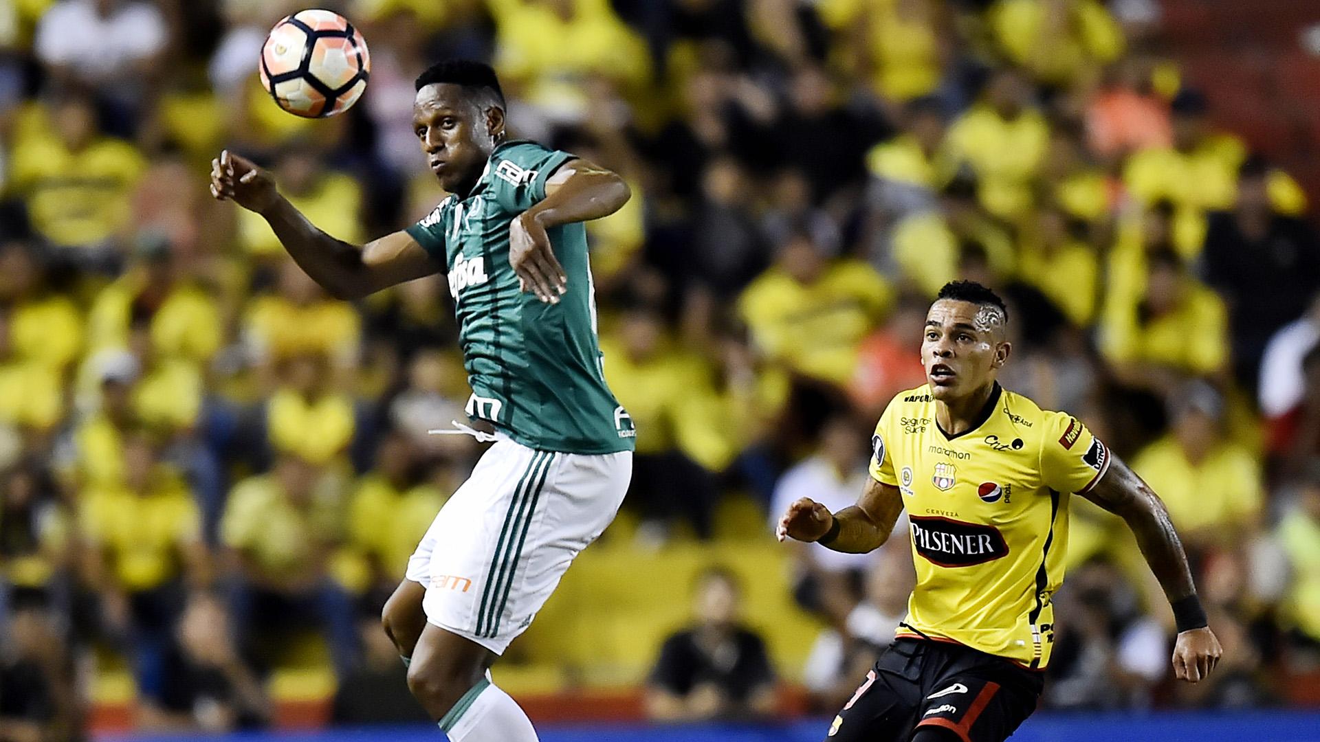 Jonatan Alvez Yerry Mina Barcelona Guayaquil Palmeiras Libertadores 05072017