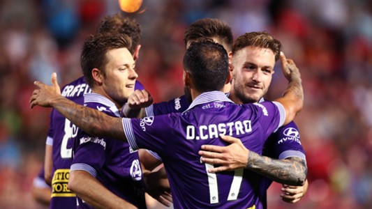 Chris Harold Diego Castro Adam Taggart Adelaide United v Perth Glory A-League 10022017