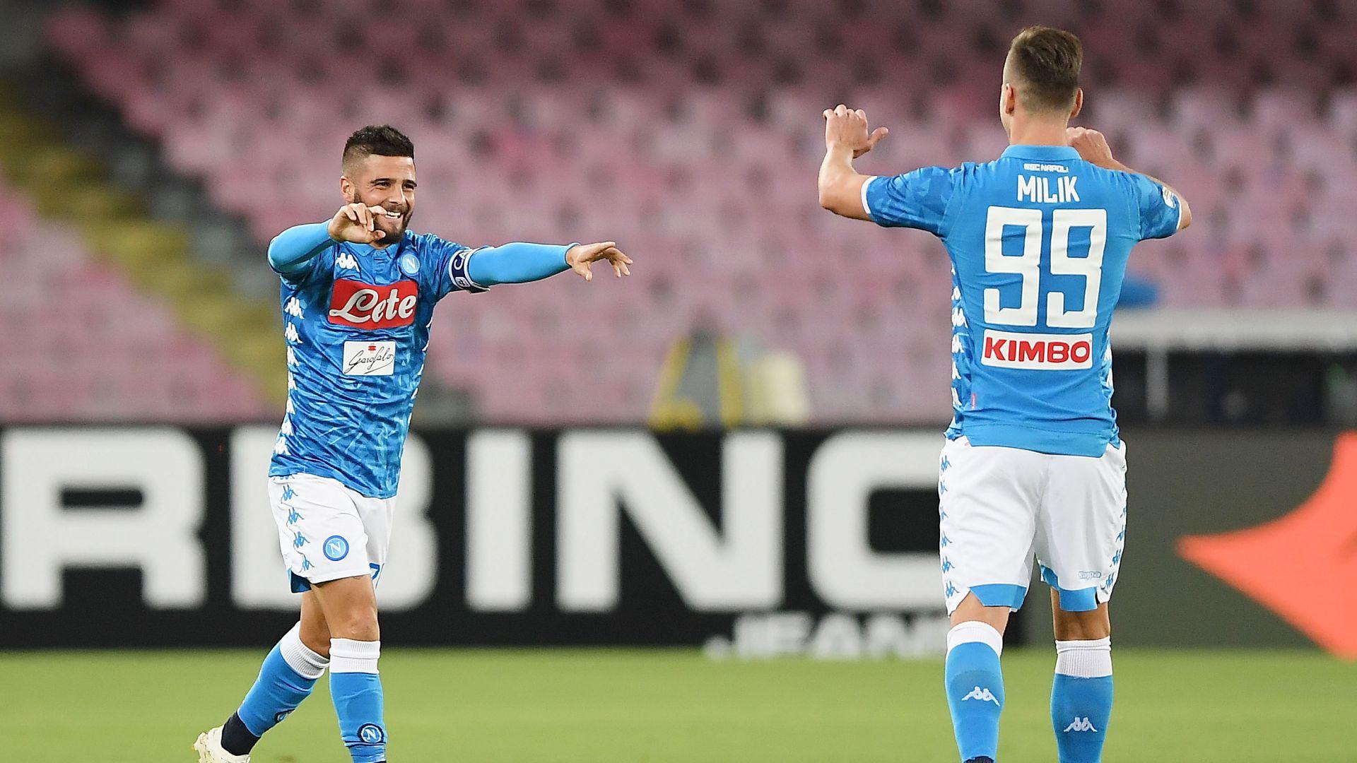 Arkadiusz Milik Lorenzo Insigne Napoli Parma Serie A
