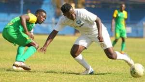 Eric Juma of Kariobangi Sharks v Eugene Mukangula of AFC Leopards.