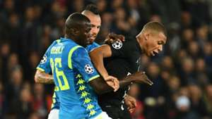 Kalidou Koulibaly, Kylian Mbappe - PSG vs. Napoli