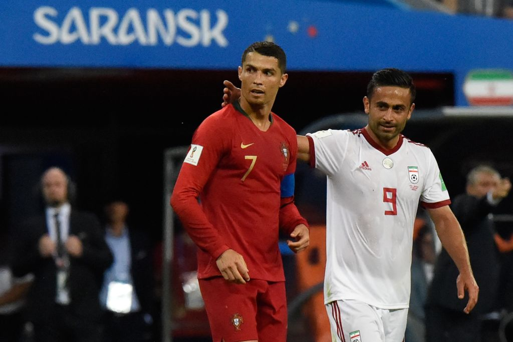 Omid Ebrahimi Cristiano Ronaldo Iran Portugal World Cup 2018