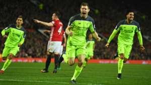 HD James Milner Liverpool celebrates