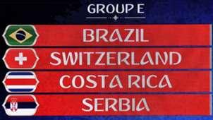 WM Spielplan Gruppe E Brasilien Schweiz Costa Rica Serbien