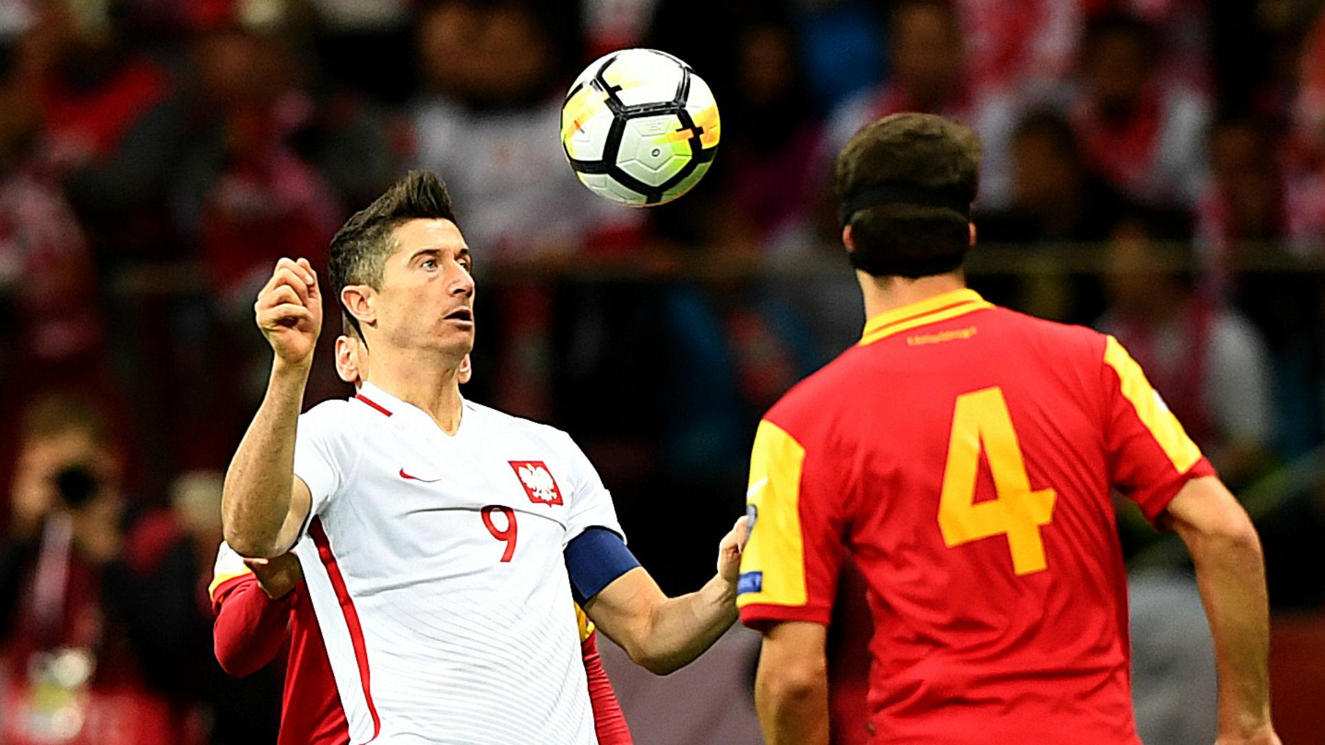Robert Lewandowski Poland vs Montenegro