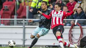 Justin Kluivert, Santiago Arias, PSV - Ajax, Eredivisie, 23042017