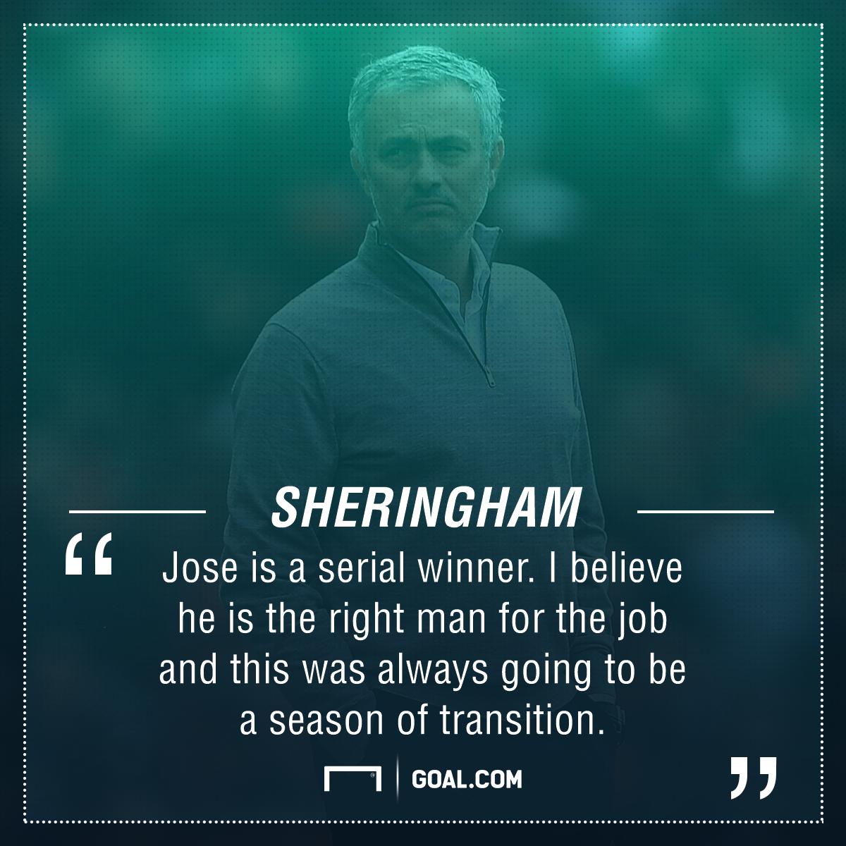 Teddy Sheringham Jose Mourinho