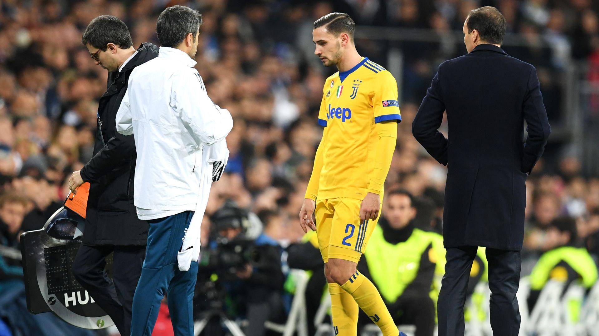 Mattia De Sciglio injured Real Madrid Juventus