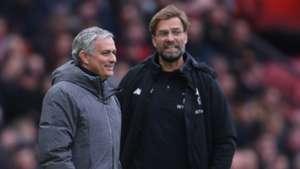 Jürgen Klopp Jose Mourinho 10032018