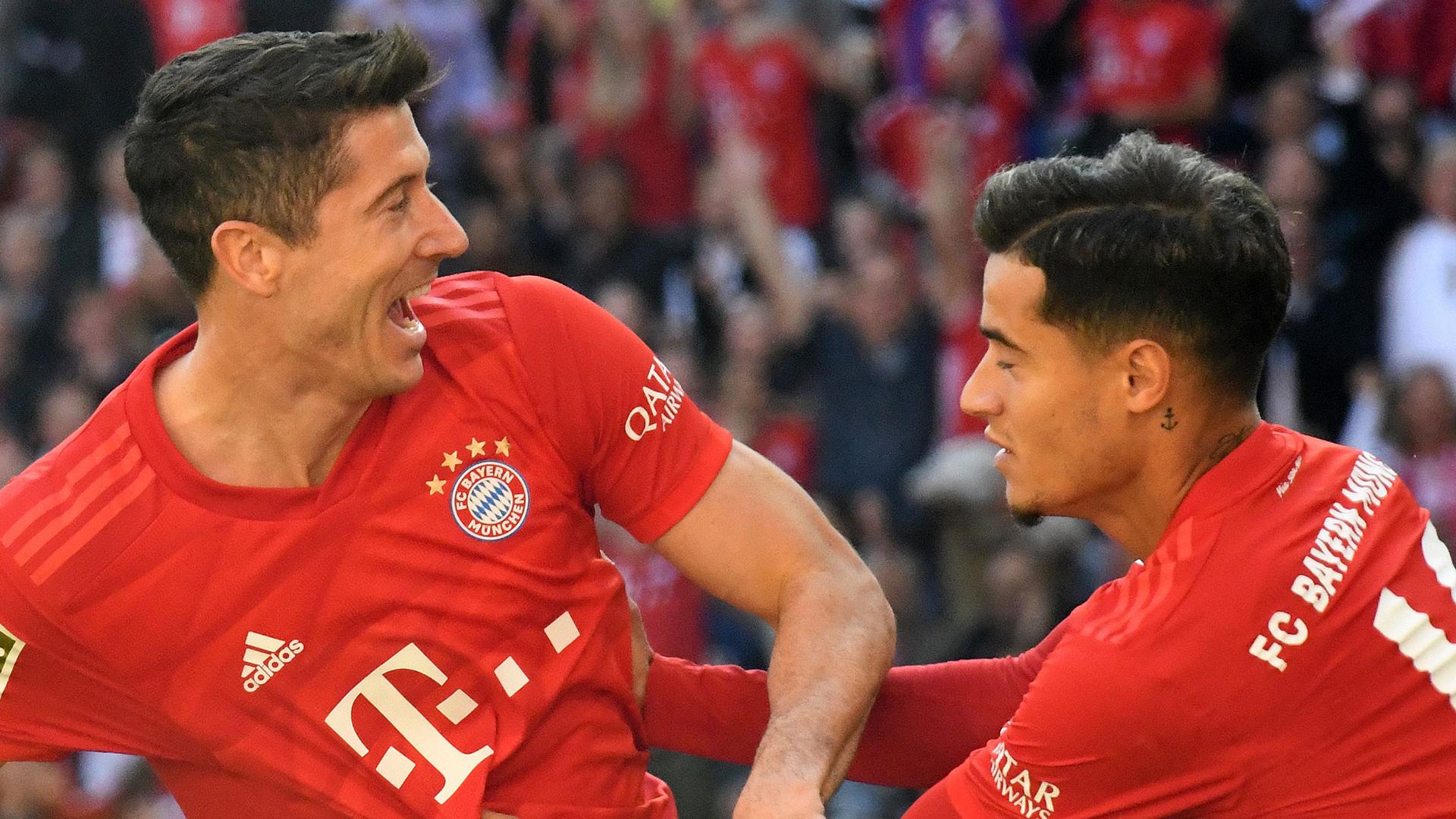 Robert Lewandowski Philippe Coutinho Bayern 2019