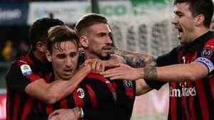 Biglia celebrating Chievo Milan Serie A
