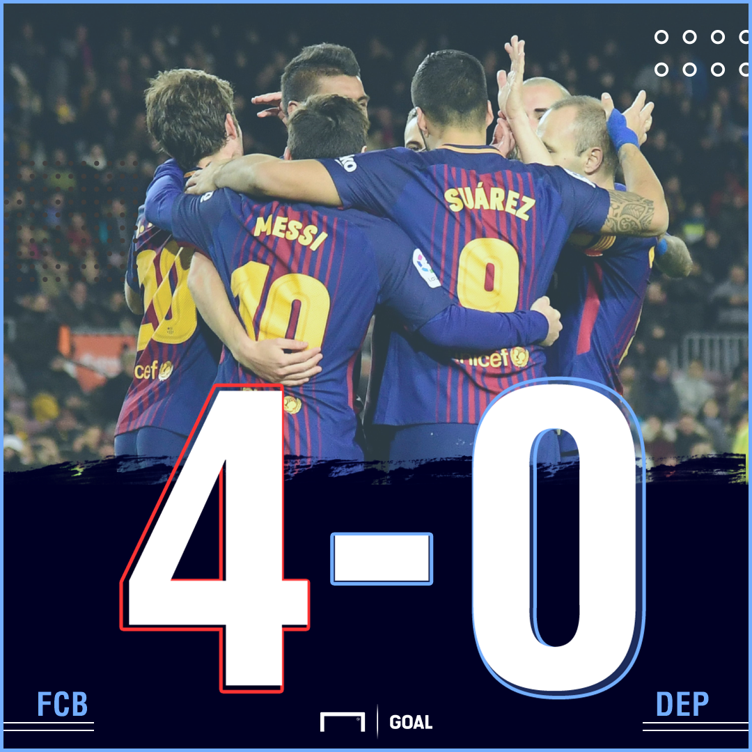 Barca Depor score