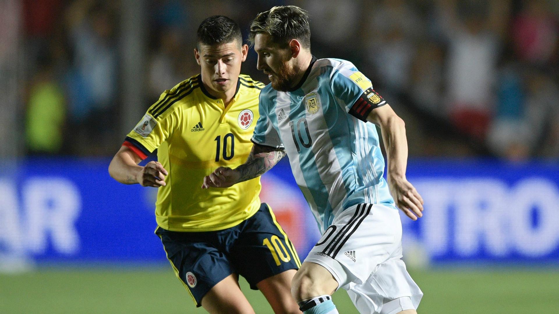James Rodriguez Lionel Messi Argentina Colombia