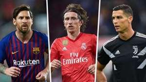 Messi, Modric, Ronaldo composite