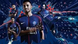 Maillot PSG 2017 2018 domicile Paris Saint-Germain home