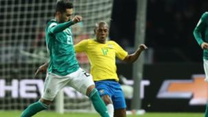 Fernandinho Ilkay Gundogan Germany Brazil 27032018 Friendly