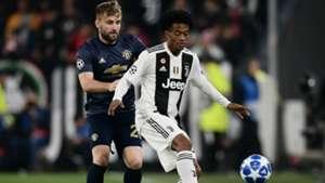 Juan Cuadraro Shaw Juventus Manchester United Champions League