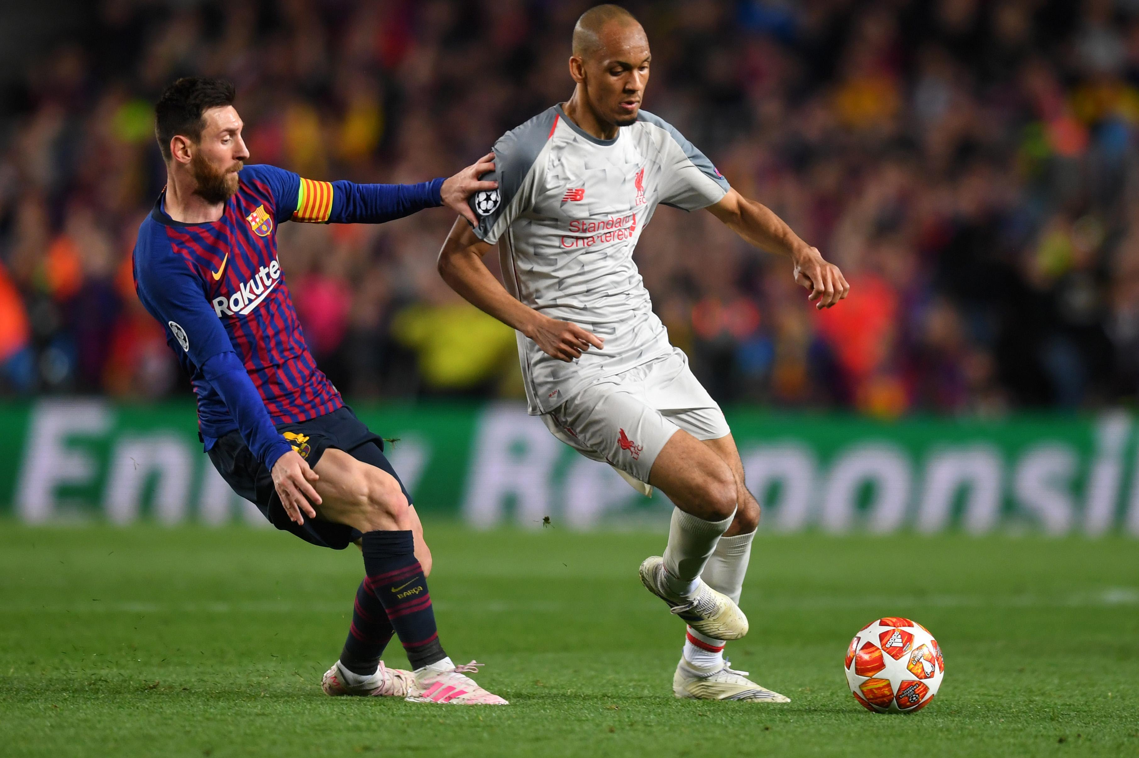 Fabinho Lionel Messi - Barcelona Liverpool