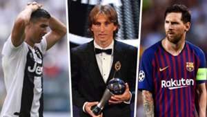 Lionel Messi Luka Modric Cristiano Ronaldo The Best Split