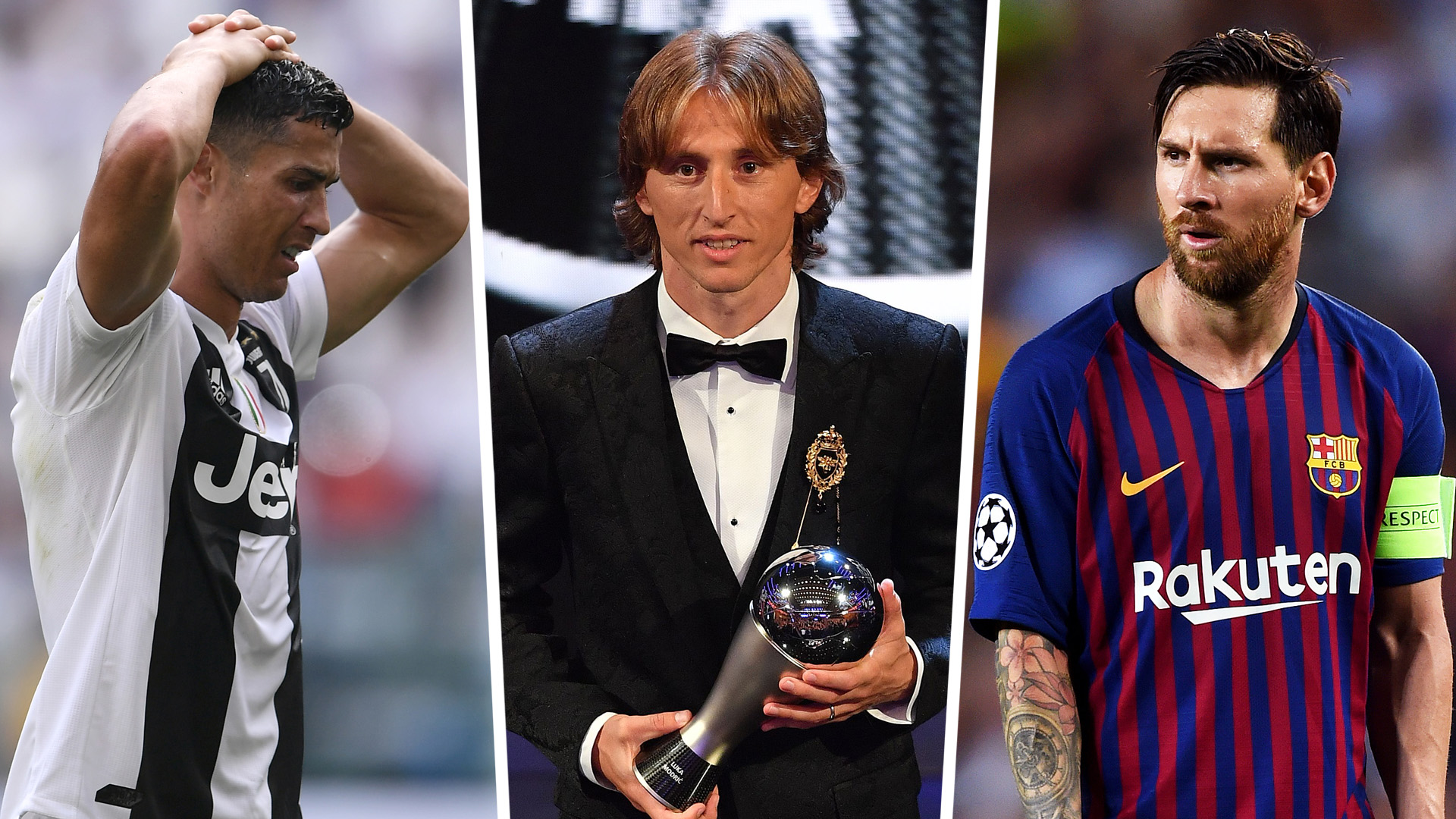 Lionel Messi Luka Modric Cristiano Ronaldo The Best Split