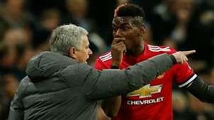 Paul Pogba, Jose Mourinho, Tottenham vs Man Utd, 17/18