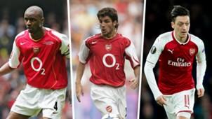 Vieira, Fabregas, Ozil, Arsenal