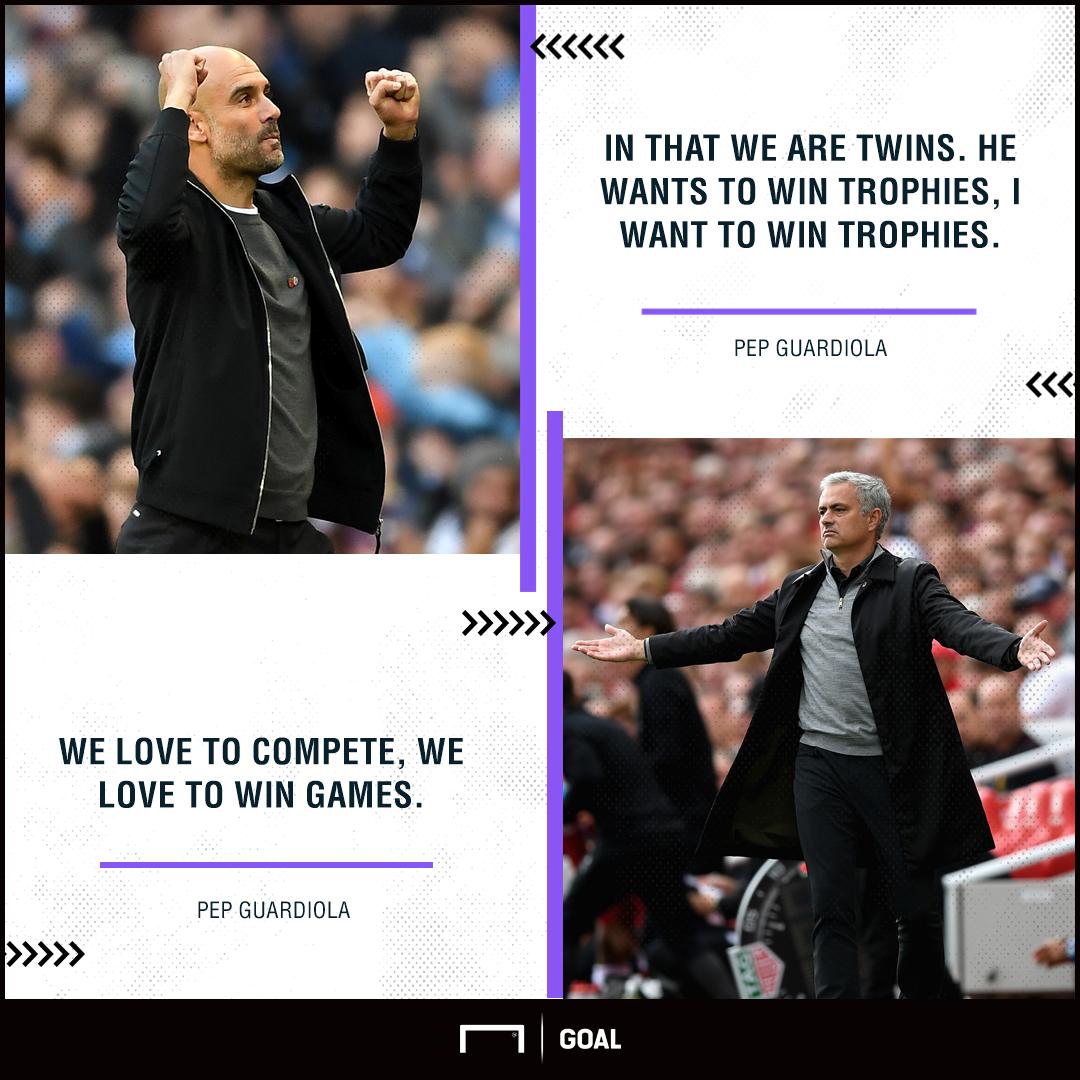 Pep Guardiola Jose Mourinho twins