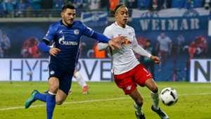 Sead Kolasinac Yussuf Poulsen RB Leipzig Schalke 04 Bundesliga 03122016