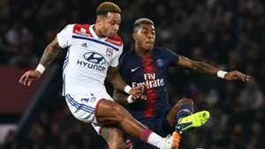 Memphis Depay Presnel Kimpembe PSG Lyon Ligue 1 07102018