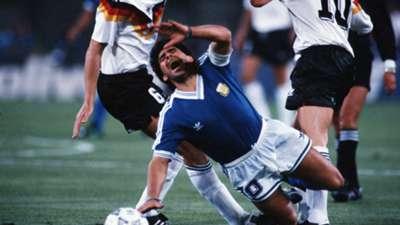 Diego Maradona Argentina West Germany World Cup final 1990