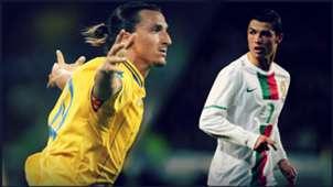 montage Ibrahimovic sweden Ronaldo Portugal