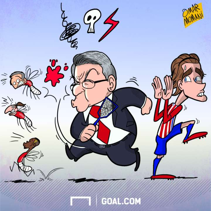 Cartoon Manchester United is a small team