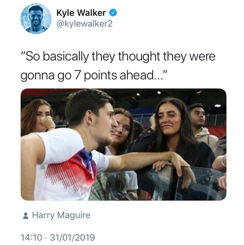 Kyle Walker Twitter Post