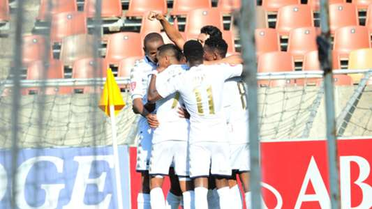 Bidvest Wits players celebrate Vincent Pule goal