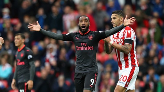 Alexandre Lacazette Stoke City Arsenal Premier League