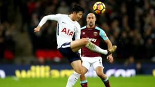 Heung-Min Son Pablo Zabaleta Tottenham West Ham