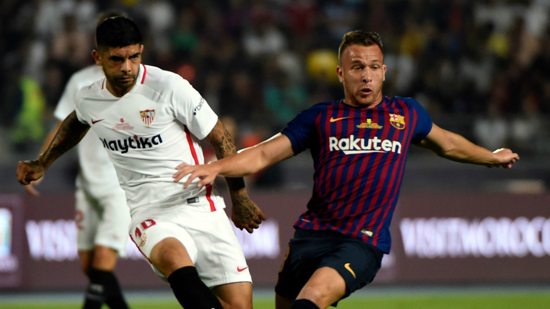 s u00e9ville v barcelone r u00e9sum u00e9 du match  12  08  2018  super cup