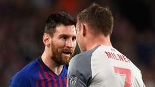 Lionel Messi James Milner Barcelona Liverpool