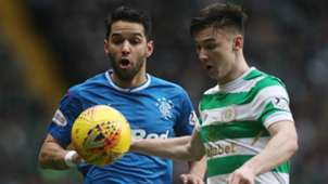 Daniel Candeias Kieran Tierney Celtic Rangers