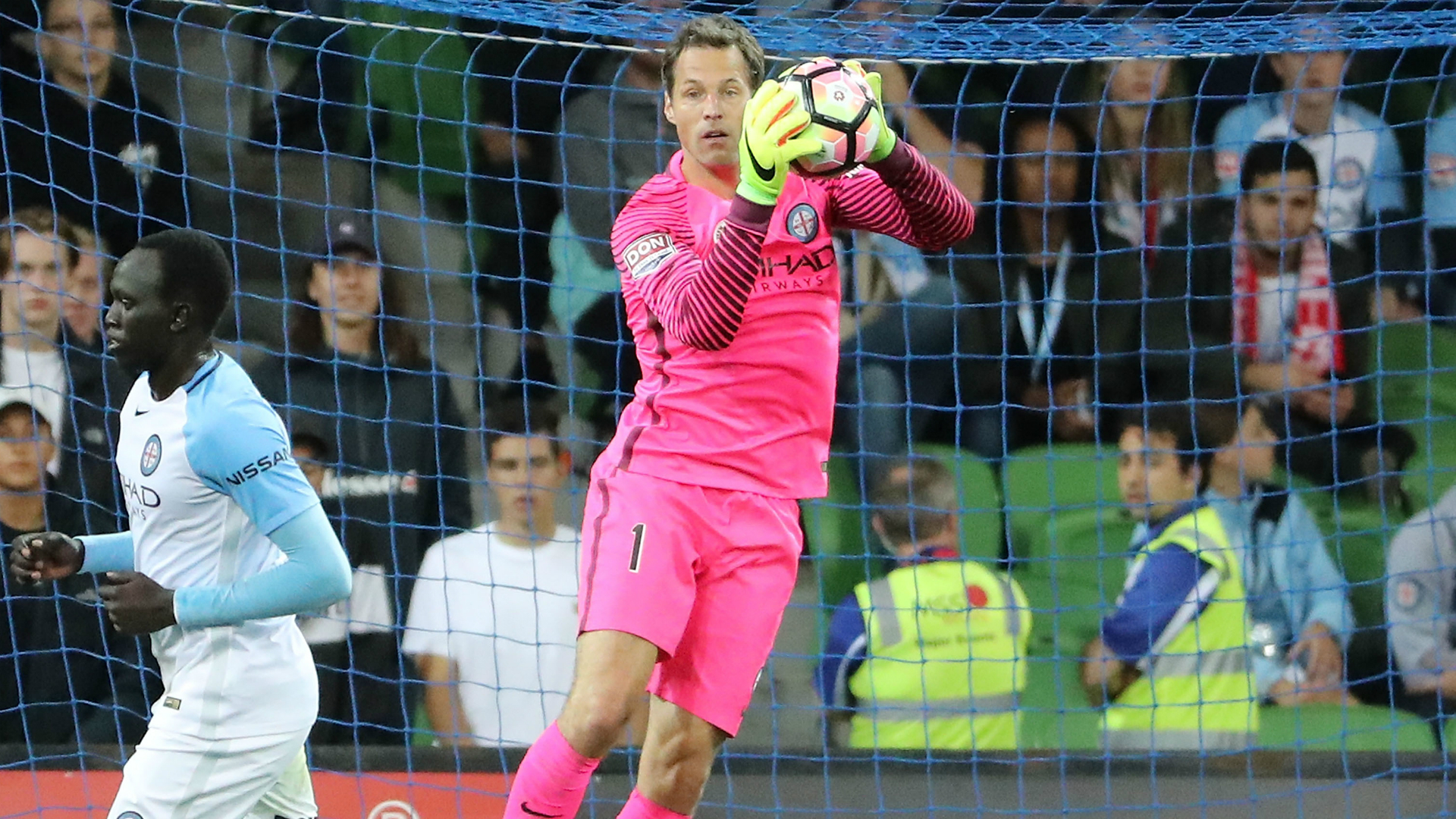 Thomas Sorensen Melbourne City v Sydney FC A-League 24022017